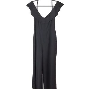 Zara woman Jumpsuit romper wide leg v neck L